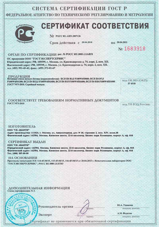 Сертификат на смесь бетонную в15 м200 раствор строительный цементный кладочный